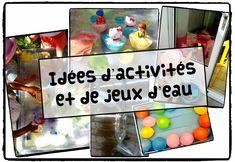 activités et jeux d'eau, chaleur, été, vacances, activité sensorielle, enfant