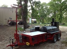 View our lineup of BBQ trailers, custom smokers, and pull behind pits. All trailers can be customized any way you want it! Just check out our accessories page. Backyard Smokers, Backyard Bbq Pit, Wedding Backyard, Backyard Ideas, Custom Bbq Smokers, Custom Bbq Pits, Custom Bbq Grills, Bbq Smoker Trailer, Bbq Pit Smoker