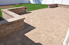 Techo Bloc Patio and sitting wall by Landscape Solutions