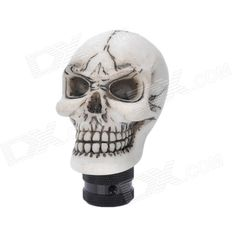Quantity: 1 Piece; Color: White; Material: Resin; Function: Shift knob for most cars; Packing List: 1 x Shift knob; 3 x Silicone caps (8mm / 10mm / 12mm); 6 x Screws; 1 x Wrench; http://j.mp/1lksUZV