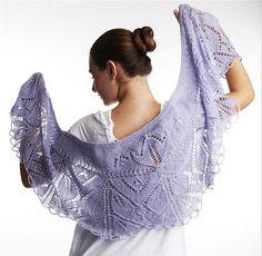 Ravelry: Xale Lilae (Lilae shawl) pattern by Grace Karen Burns