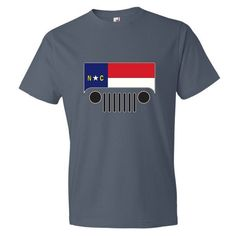North Carolina Flag Jeep Short sleeve t-shirt