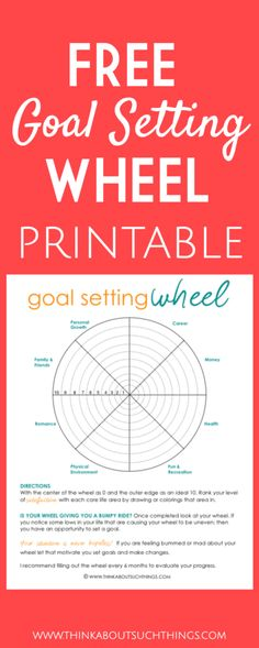 Setting goals can sometimes be overwhelming. So, today I am sharing some tips and tricks when it comes to goal planning! I have a real treat too! A FREE goal setting wheel that you can print out and use. Start goal planning today!