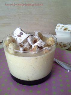 Semifreddo al torrone con nocciole e cioccolato