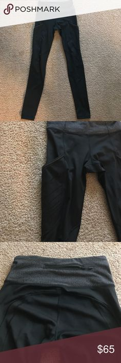 Lululemon luxtreme pants I bought these from another Poshmark seller but I thought I was buying crops so these are slightly longer than I prefer. They are in very good used condition. They are a size 4. Color is black with a gray waist band. They have pockets on the sides of each leg, great place for your phone. There are also tiny pockets in the inside part of the front waist and a zipper pocket on the outside back waist band. lululemon athletica Pants Leggings