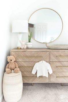 Last Minute Presidents' Day Deals (Because They're Too Good Not to Share!) - Nursery Decor, Dresser, and Changing Station Ideas Nursery Dresser, Nursery Decor Boy, Nursery Neutral, Baby Room Decor, Nursery Room, Kid Decor, Babies Nursery, Nursery Ideas, Nursery Mirror