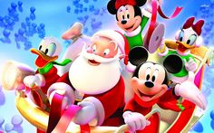 Mickey E Minnie Natal Coleção Christmas Disney Mickey & Minnie Mouse & Friends Santa Claus Wallpaper, Mickey Mouse Wallpaper, Disney Wallpaper, Mickey Mouse Imagenes, Mickey Minnie Mouse, Disney Mickey, Walt Disney, Tinkerbell Disney, Merry Christmas Images