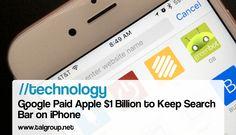 TECHNOLOGY: Google Paid Apple $1 Billion to Keep Search  Bar on iPhone http://bloom.bg/1OLwTHt via Bloomberg Business #Tech #News #Mobile