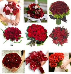 Red bouquet ideas-yes!