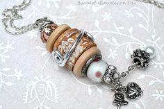 Cork Necklace Wine Cork Necklace Boho Necklace by BeautyInBaubles