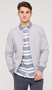 Bomber jacket in light gray