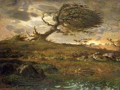 Gust of Wind - Jean Francois Millet (1814-1875)