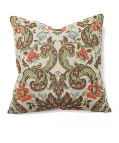 Take a look at this Sage & Coral Grand Floral Tuscan Throw Pillow on zulily today! I am in love with this pillow! Living room inspiration?!