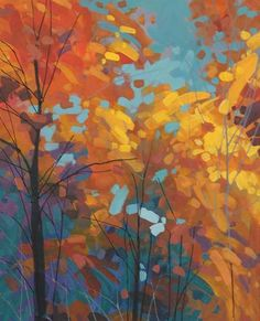 Landscape Artwork, Abstract Landscape Painting, Art Painting Gallery, Art Gallery, Autumn Painting, Canadian Artists, Tree Art, Beautiful Paintings, Art Techniques