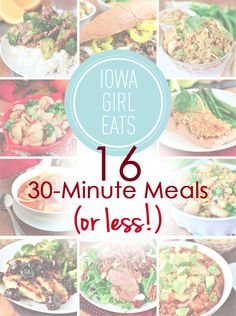 If you're constantly on the go, try any of these 16 Easy 30-Minute Meals (Or Less!) for Busy People!