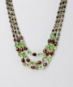 Verde Obscuro Crystal Necklace