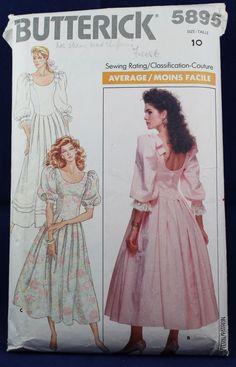 6e3975f9c7c83 Dress Sewing Pattern in Size 10 - Butterick 5895. MOMSPatterns Vintage ...