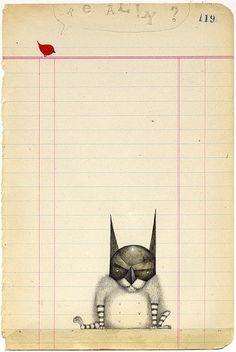 Stumbled onto drawings by Bill Carman. Love them.