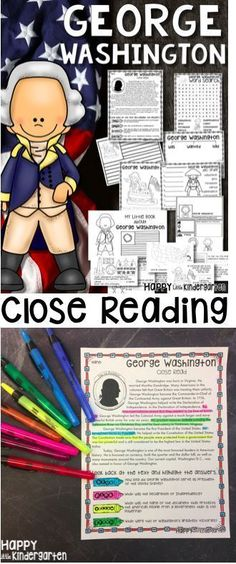 George Washington Close read for 1st and 2nd grade. This bundle has tons of differentiated activities for President's Day and George Washington's birthday!