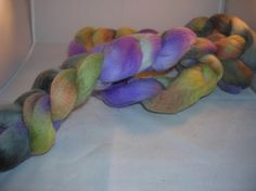 Merino Wool Roving  Hand dyed Spinning Fiber by SussesSpindehjrne, $15.50