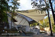 PTFE roof Forest Opera Sopot/Poland Sopot Poland, Opera, Outdoor Decor, Design, Opera House, Design Comics