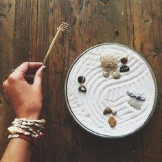 .@Penny Douglas People   Finding a Zen moment. DIY on the blog! #freepeople #zen #garden #inspiration