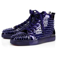 1b7cbf7e2c4 Louis Spikes Men s Flat - Red Bottom Christian Louboutin Shoes