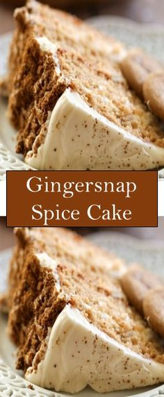 Gingersnap Spice Cake Gingersnap Spice Cake Every Thanksgiving, my whole extended family on my mom's side gets together to celebrat. Sweet Recipes, Cake Recipes, Dessert Recipes, Köstliche Desserts, Delicious Desserts, Cupcake Cakes, Cupcakes, Just Cakes, Spice Cake