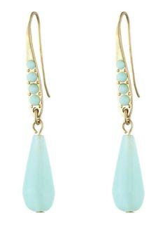 Chalcedony Drop Earrings from Danielle Stevens... mint sherbet hue dangle pretty from the ears:) $28