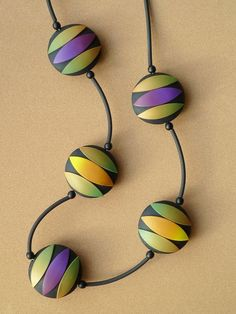 Polymer Clay Necklace by Carina's Photos and Polymer Clay, via Flickr by melva