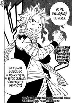Natsu dispuesto a luchar contra Zeref - Fairy Tail Manga 451