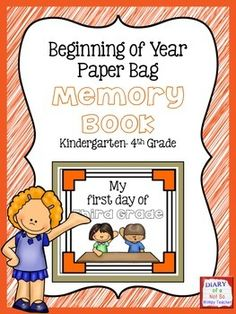 A first day of school paper bag book! Fun back to school activity that the kids will enjoy and allows me to see their writing and get to know them! Back To School Night, The New School, New School Year, First Day Of School, Paper Bag Books, Instructional Planning, Beginning Of Year, Back To School Activities, Math Facts