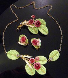 Vintage AUSTRIA parure Necklace Brooch by VintageTreasures4U, $125.00