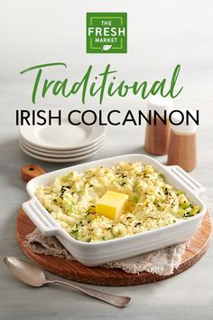 Celebrate St. Patrick's Day with a traditional Irish Colcannon, featuring mashed potatoes mixed with parsnips, cabbage and fresh spring leeks. Whether you hail from the Emerald Isle or just want to enjoy a little Irish comfort food, this dish serves up a rich, creamy taste with every bite.