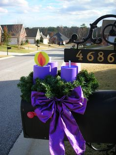 Advent wreath for mailbox and windows...