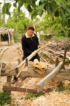 Working the wood to create a Kyrgyz yurt. More about this art in the article