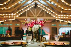 Virginia boathouse wedding, with a lovely gold vintage inspired wedding dress by Maggie Sottero.