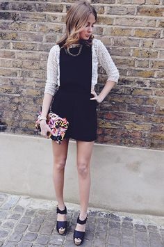 Millie Mackintosh. Cute and fun. Broderie anglais. Monochrome with a pop of flower power.