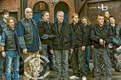 """Sons of Anarchy - Jackson """"Jax"""" Teller (Charlie Hunnam) Clarence """"Clay"""" Morrow (Ron Perlman) graphics by justcreate"""