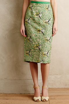 Tracy Reese Embroidered Dragonfly Pencil Skirt #anthropologie #TracyReese