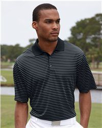 adidas - Golf ClimaLite® Pencil Striped Polo - A160.  #customapparel #uniforms  #companyclothing  #embroidered  #printed  #logo