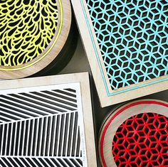 these are coasters but I can see them as brightly colored air grates