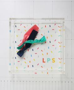 Sprinkles monogrammed mini lucite tray - www.psstudioshop.com