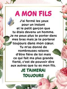 Mon fils ma Vie ♥️♥️♥️ - Bestworld Tutorial and Ideas French Quotes, Positive Affirmations, Best Quotes, Life Quotes, Quotations, Encouragement, Inspirational Quotes, Wisdom, Positivity