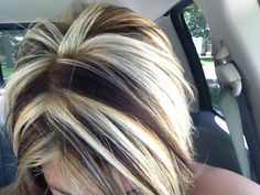 Image result for contrast hair color chunks