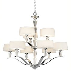 Kichler KK42031CH Crystal Persuasion Large Foyer Chandelier Chandelier - Chrome