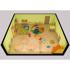Floor Plan:- Inspirational room layouts, all available from www.ie 567768088 Room Layouts, Pre School, Toddler Bed, Floor Plans, Kids Rugs, Inspirational, Flooring, Home Decor, Child Bed