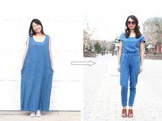 REFASHION DIY: XXL MAXI DRESS TO A JUMPSUIT - Life is Beautiful