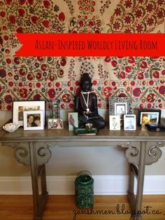Steal These Decor Ideas: Asian-Inspired Worldly Living Room title=