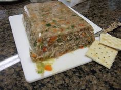 Smokehowze S Cajun Hog Head Cheese 18 Zpsx Sausage Recipes, Cheese Recipes, Pork Recipes, Cooking Recipes, Cajun Recipes, Cajun Cooking, Souse Meat Recipe, Scrapple Recipe, Bern